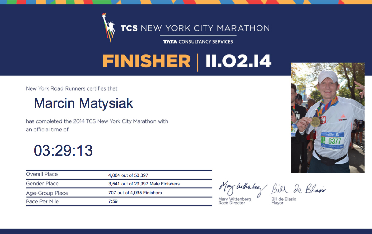 NYCM 2014 - Certificate